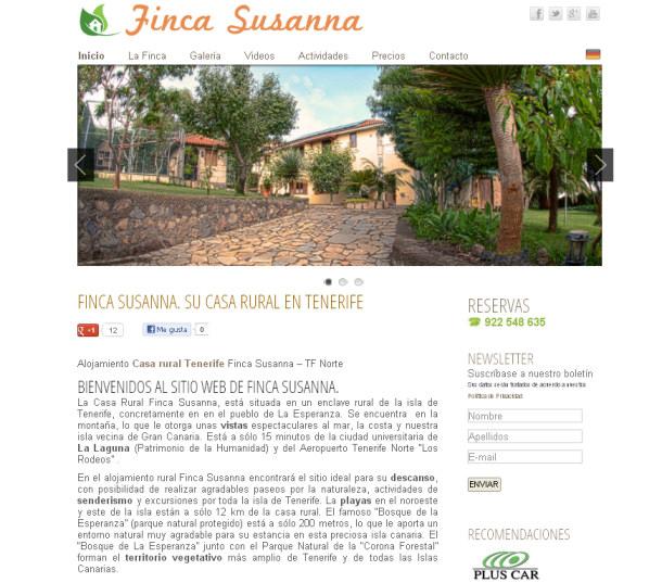 Diseño Web de Casa Rural Finca Susanna